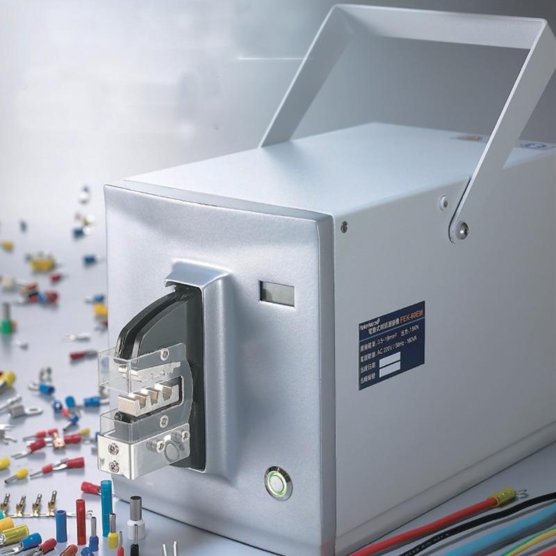 الكهربائية محطة العقص آلة 110 فولت/220 فولت الكهربائية محطة العقص آلة نهاية ماكينة الأسلاك خط الضغط كماشة FEK-60EM