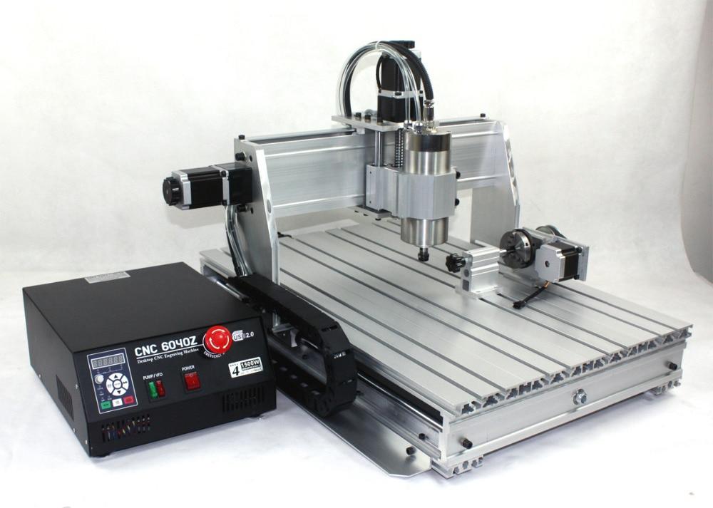 【EU free VAT】 4 Axis 6040 USB port 2.2KW 2200W USB Mach3 CNC Router Engraver Engraving Milling Citting Machine 220VAC enlarge