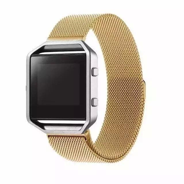 Milanese bucle magnético de acero inoxidable de malla de correa de muñeca pulsera reemplazo para Fitbit Blaze correa de reloj Acessory