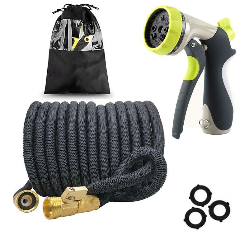 50-75FT 伸縮ガーデンホース柔軟なマジックホースラテックスチューブと水噴霧器 tuinslang 庭の水まきホース洗車武器