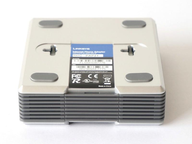 Разблокированный Linksys PAP2-NA, адаптер для телефона PAP2T PAP2T-Na ATA, SIP VOIP, 2 FXS