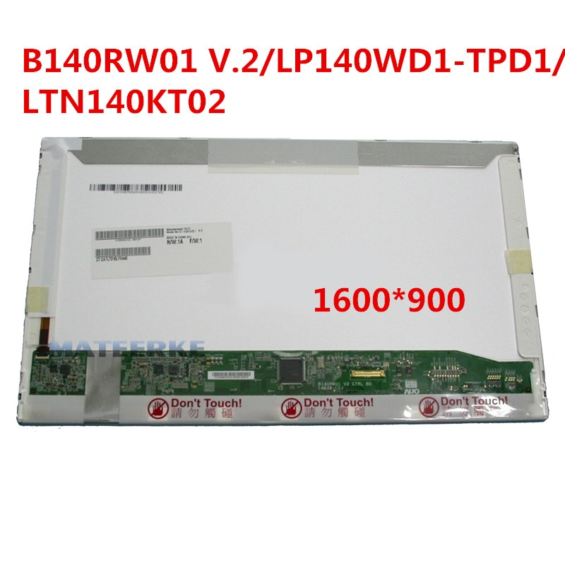 V.2 B140RW01 LP140WD1. TPD1 LTN140KT02 1600*900 30pin 14 Laptop Tela LCD Painel de Substituição