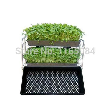 Suministros de jardín, gran oferta, bandeja de semillero, plato de brotes, caja de bandejas para macetas de vivero, 54*28*5