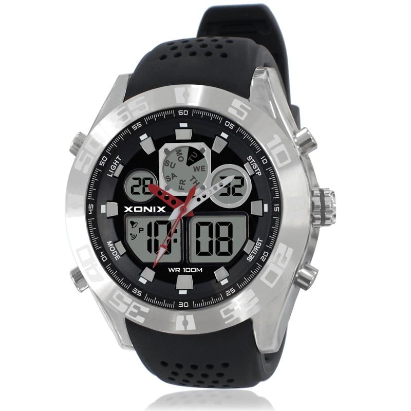 TOP Men Sports Watches Waterproof 100m Analog-Digital Watch Running Swimming Diving Wristwatch Relojes Hombre Montre Homme MY