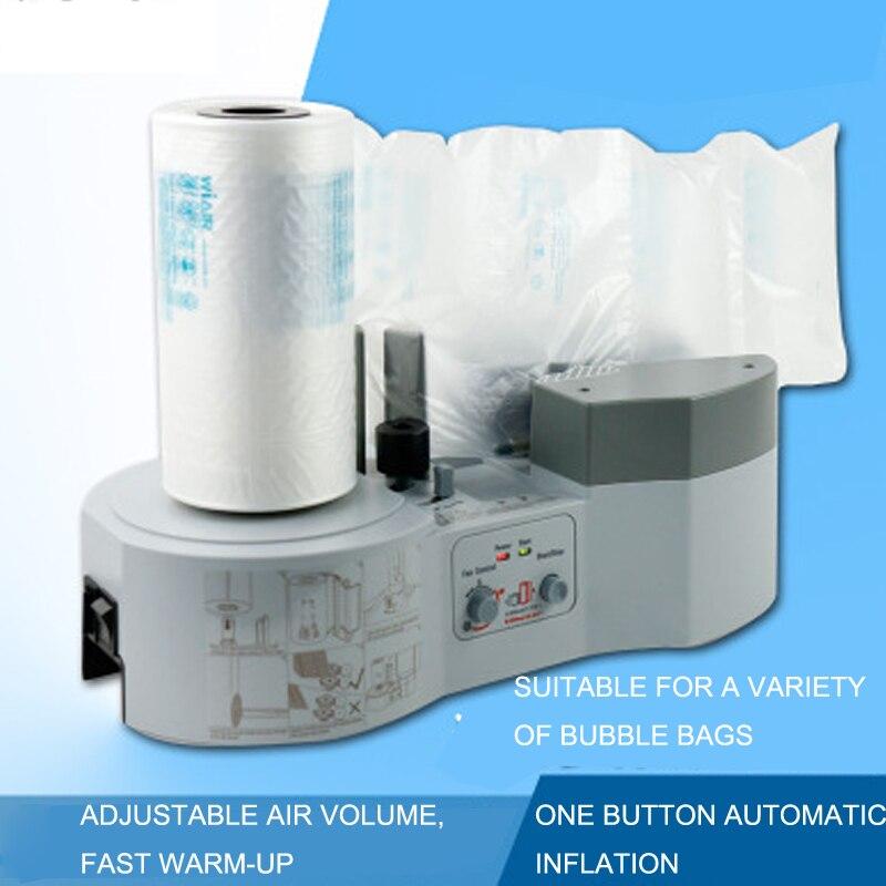 Almofada de ar almofada bolha embalagem envoltório fabricante máquina pacote ar 1000 + filme