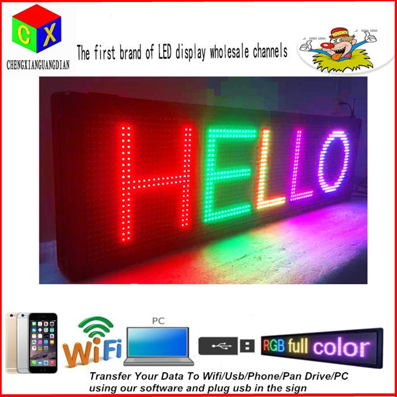 LED Programmable Electronic P13 RGB COLOR OUTDOOR Sign LED Display 15