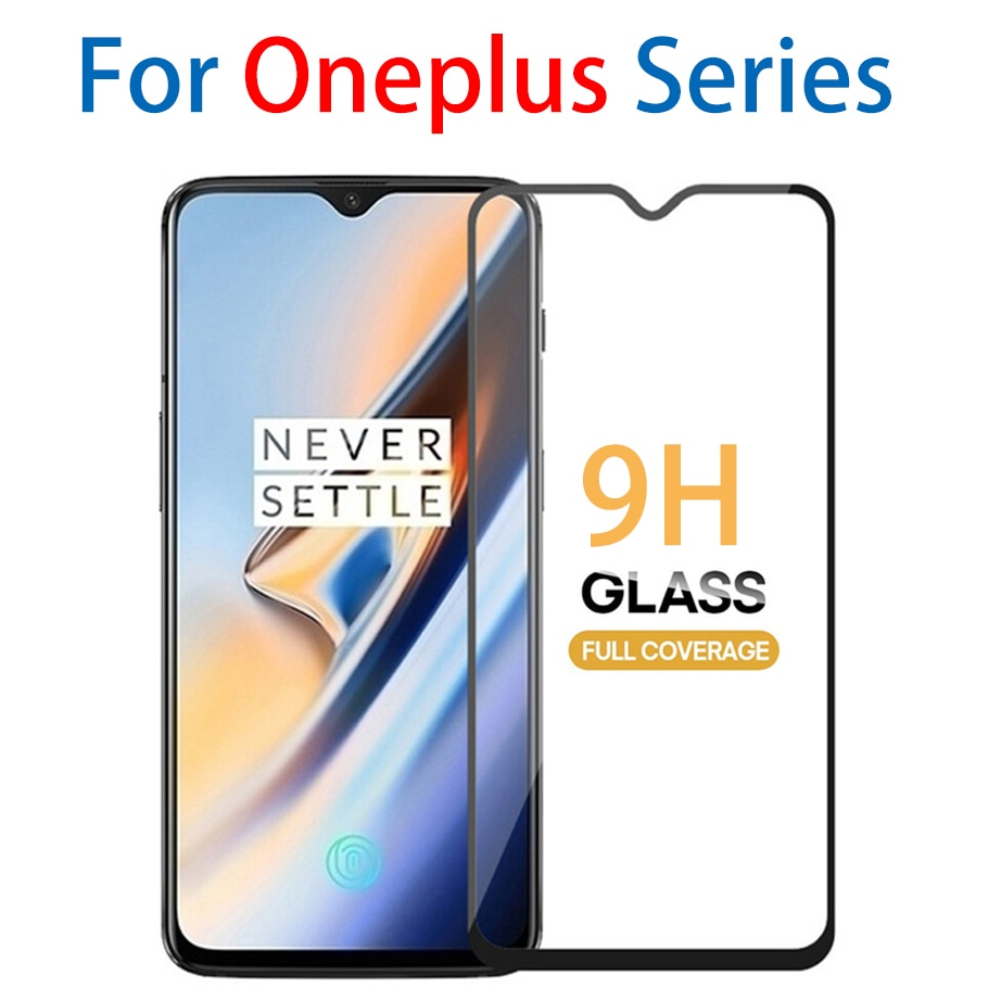 9H para oneplus 7 HD protector de pantalla completa de vidrio templado para one plus 3 3t 5 5t 6 6t vidrio protector no película oneplus 7 oneplus 6