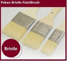 3pcs/set  Pebeo bristle paint brush wood handle watercolor oil  Acrylic large area painting brush art supplies