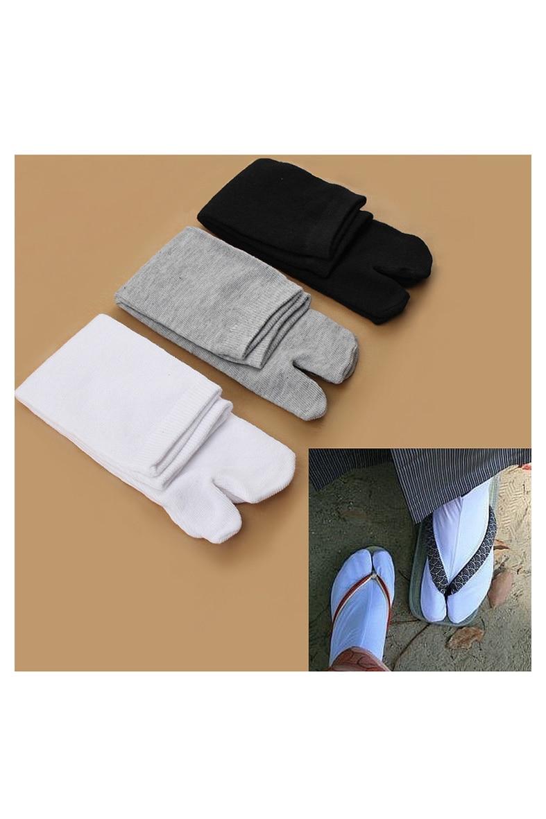 LBFS/Лидер продаж; 3 пары; Японские кимоно; Вьетнамки; Сандалии с раздельным носком; Носки Tabi Ninja Geta Zori; Цвет белый, черный, серый