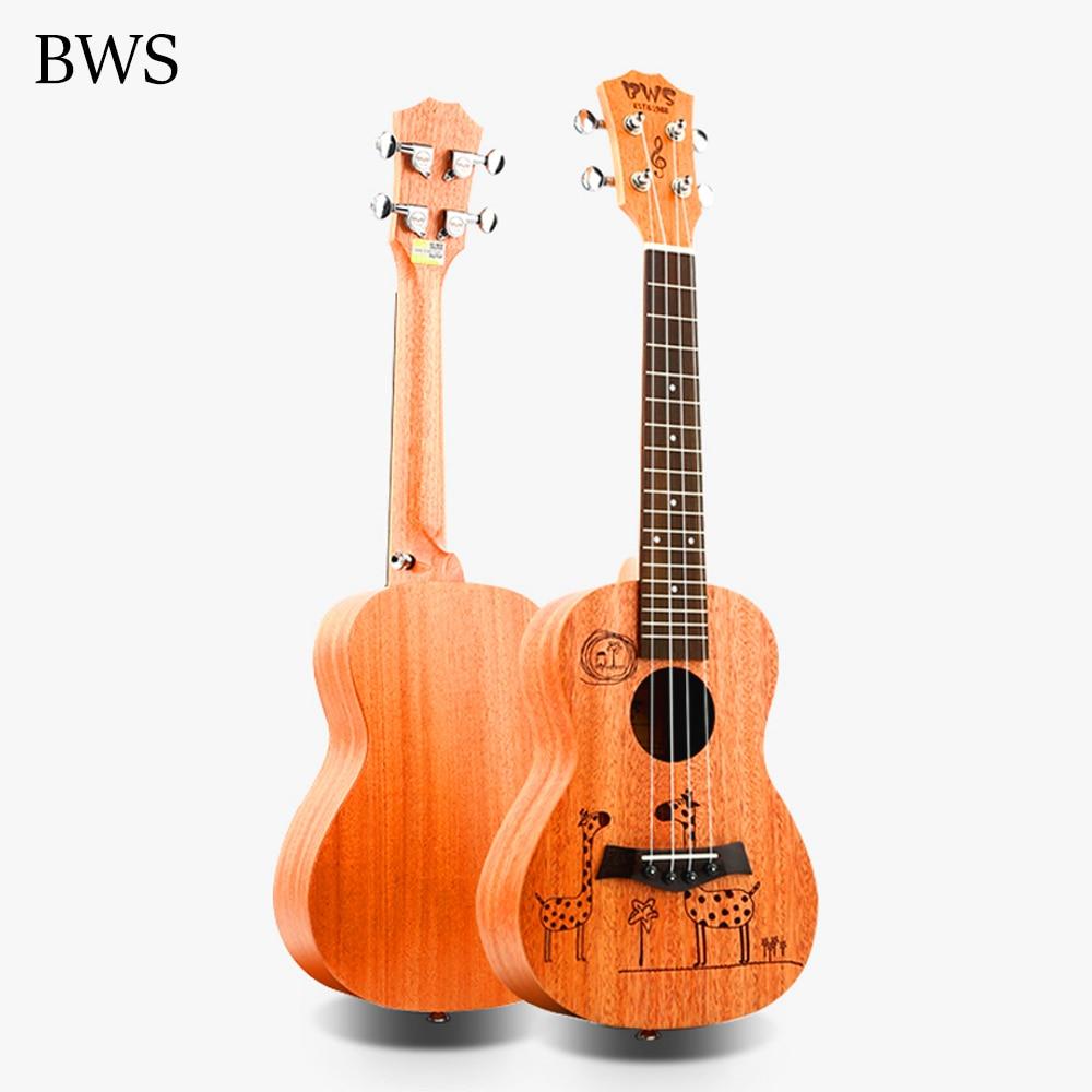 Ukelele BWS de 23 pulgadas de regalo para concierto, 4 cuerdas AQUILA, mini Guitarra Uku Hawaiana para guitarra acústica, Ukelele, jirafa de dibujos animados UK2318
