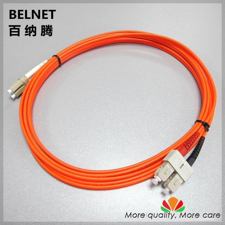 3 mt kilo erste multi-mode dual-core SC-LC fiber optic (paar) jumper träger erstklassige Gigabit Ethernet länge angepasst