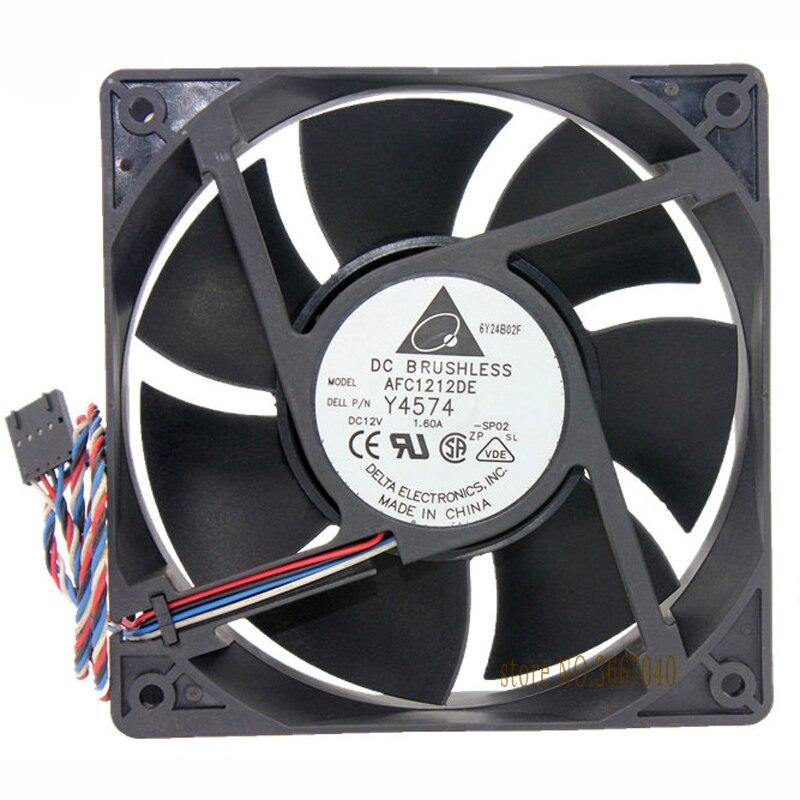 Groothandel Delta AFC1212DE 120*120*38 12Cm 12V 1.6A 4-Lijn Pwm Controle Luchtkoeling fan