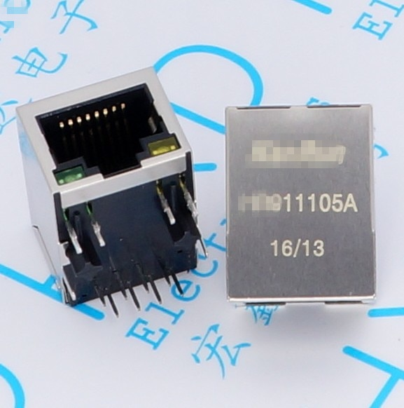 10 unids/lote HR911105A con filtro RJ45 base de red HY911105A Filtro de transformador de aislamiento de red