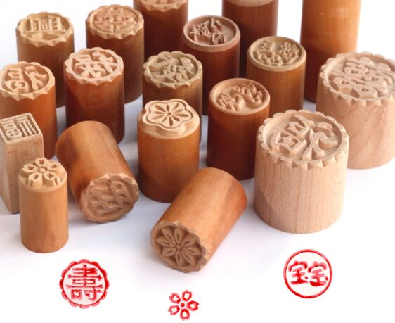 1 Uds pera sello madera Luna de madera molde para hornear pasteles