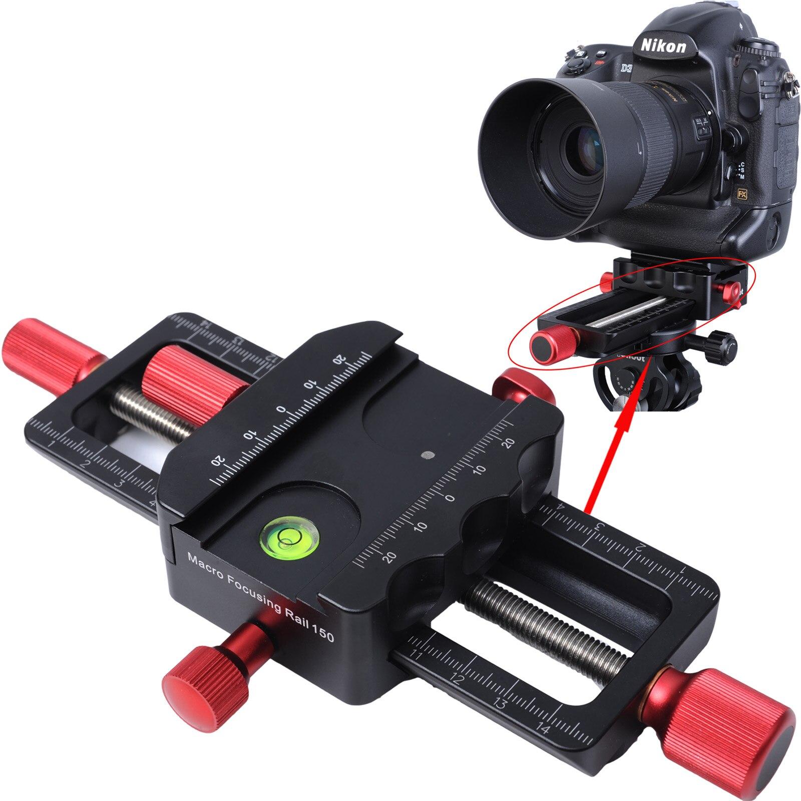 150mm 매크로 포커싱 레일 슬라이더 근접 촬영 헤드 (arca-swiss fit clamp 포함) 삼각대 볼 헤드 용 퀵 릴리스 플레이트