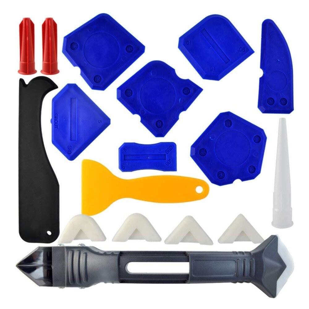 Набор инструментов для чеканки, 18 штук, 3 в 1, инструменты для чеканки, силиконовый герметик, Отделочный Инструмент, скребок для заточки, наса...