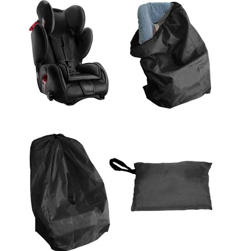 Черная портативная Дорожная сумка из толстой ткани для детского автокресла, чехол для защиты от пыли для детского автокресла, сумка для пут...