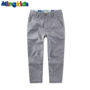 New 2021 spring summer casual straight cut boy baby pants