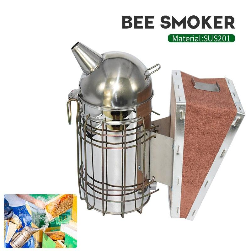 Arıcılık sigara içen paslanmaz çelik ekipman kovanı aracı malzemeleri için arı kovanı arı manuel duman makinesi asılı kanca araçları
