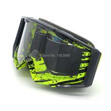 Gafas de moto de cross Bike todoterreno gafas espejadas Anti-UV a prueba de viento