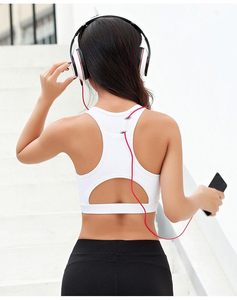 Zhangyunuo yoga sutiã de bolso de volta parte superior acolchoado correndo sutiã esportivo oco para fora do esporte de fitness feminino roupa interior fitness workout bra