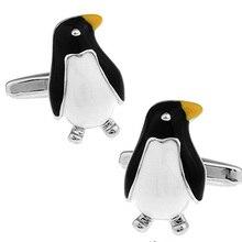 Men Jewellery Penguin Cufflinks Wholesale&retail Black Color Copper Cute Animal Design Best Gift For
