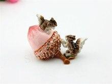 Boîte-cadeau pour Animal de décor   Boîte décureuil sur noix de pin, bibelot, accessoire de mariage, artisanat métallique