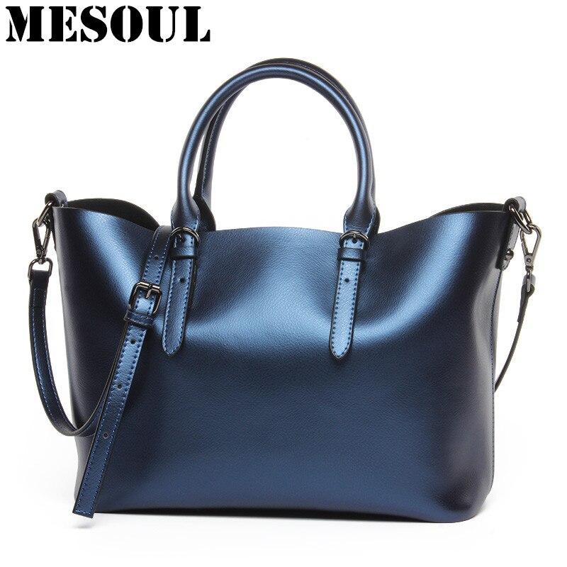 Design de luxo das mulheres de couro genuíno casual tote bolsa moda ombro bolsa senhoras azul grande capacidade saco de compras bolsos