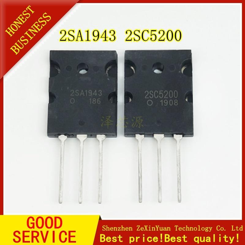 20PCS A1943 C5200 2SA1943 2SC5200 áudio tubo par 10PCS * A1943 + 10PCS * C5200 TO-3PL novo