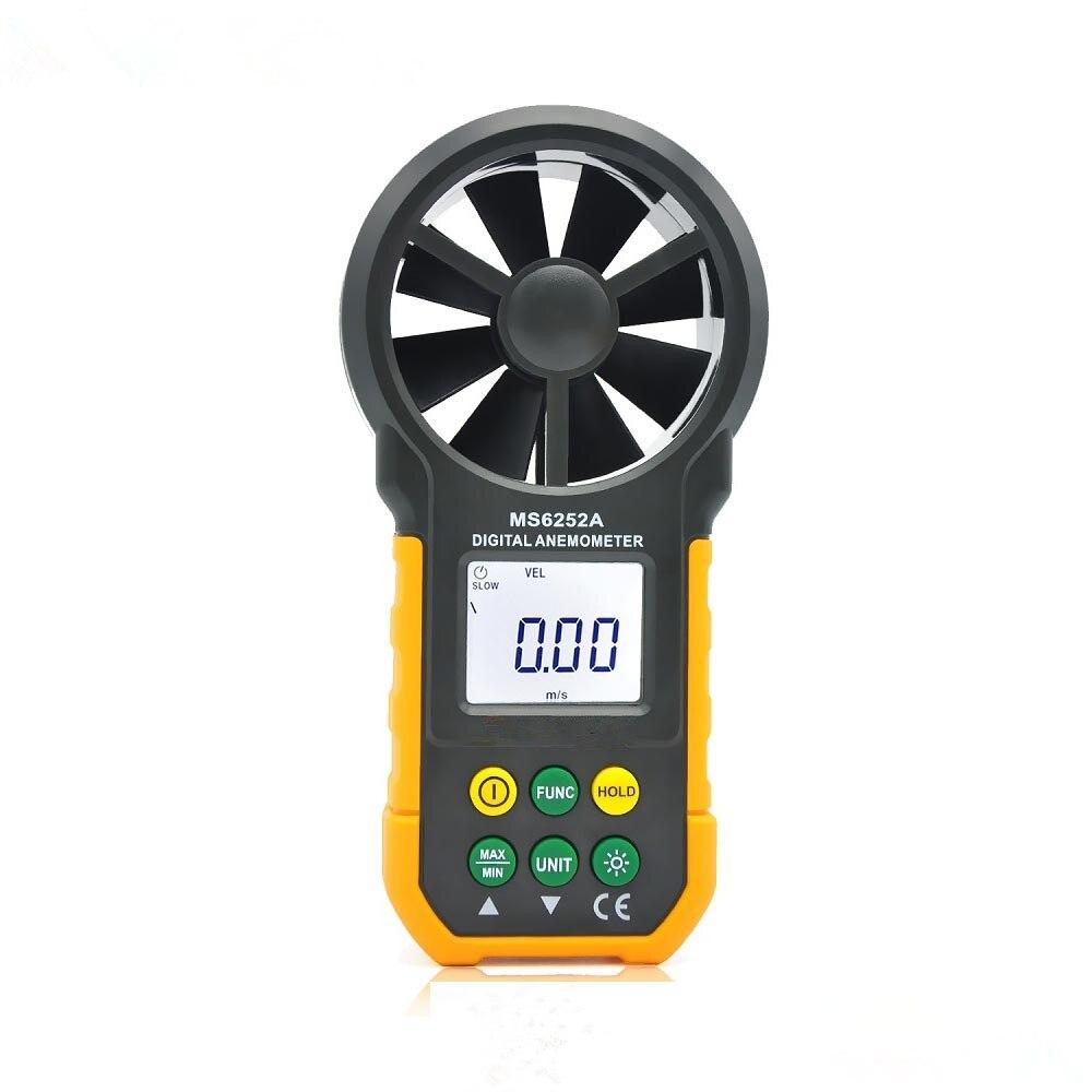 Hot Sale Original MS6252A Handheld Digital Air Wind Speed Instrument Multi-function High precision sensitive Anemometer Meter