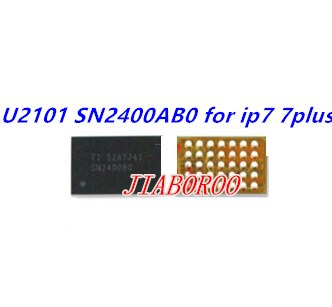 10 unids/lote U2101 SN2400AB0 SN2400ABO de carga USB IC para iphone 7 7 plus 7 7 TIGRIS CHARGER Chip