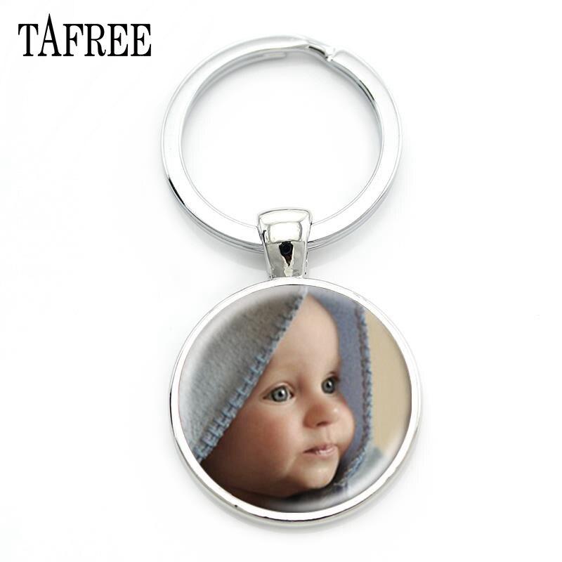TAFREE llavero de foto familiar personalizado hecho a mano bebé niño papá mamá hermano hermana retrato hecho a mano NA01