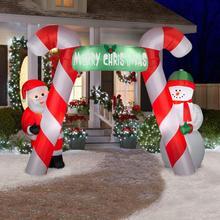 Arc gonflable de noël pour décoration   Eventail gratuit, bonbons, arc gonflable, air soufflé, pour fêtes et fêtes