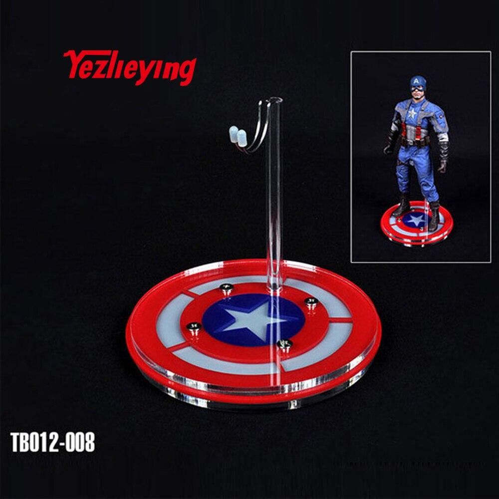 1/6 весы Дисплей Стенд фигурки TOYSBOX Капитан Америка кристальная платформа модель для 12 дюймов игрушки куклы аксессуары держатель