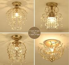 New crystal chandelier corridor aisle living room lights. Material iron / crystal