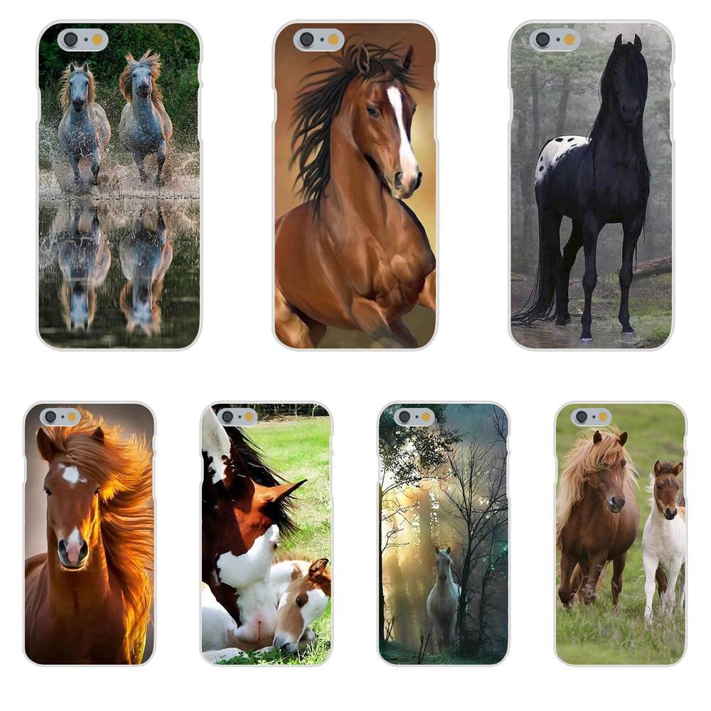 For Huawei Nova 2 V20 Y3II Y5 Y5II Y6 Y6II Y7 Y9 G8 G9 GR3 GR5 GX8 Prime 2018 2019 TPU Cell Phone Animal Horse Art Original