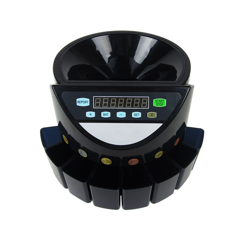 XD-9002 (يمكن تخصيصها) الكهربائية فارز عملات معدنية Led عرض الرقمية التلقائي الإلكترونية عداد العملة آلة فرز 220 فولت/110 فولت