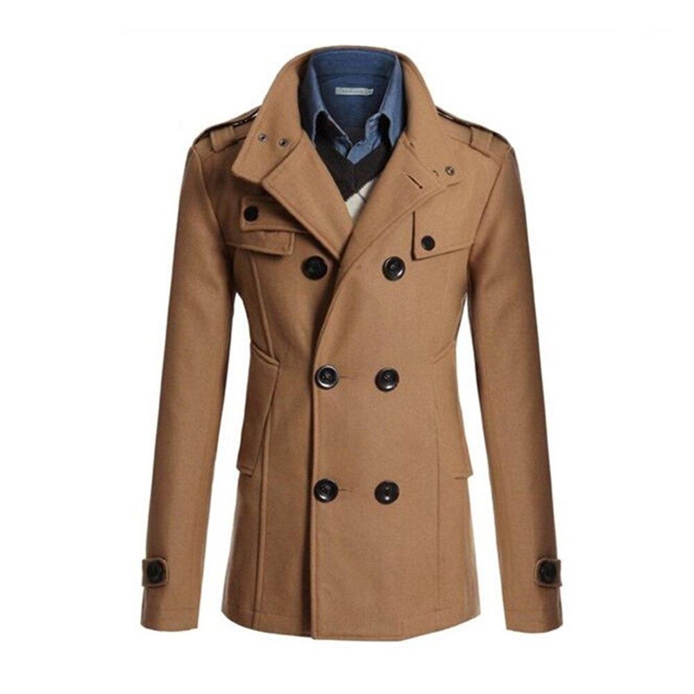 Casaco de inverno masculino casaco longo seção ao ar livre à prova de vento trench coat jaqueta casaco casaco de inverno