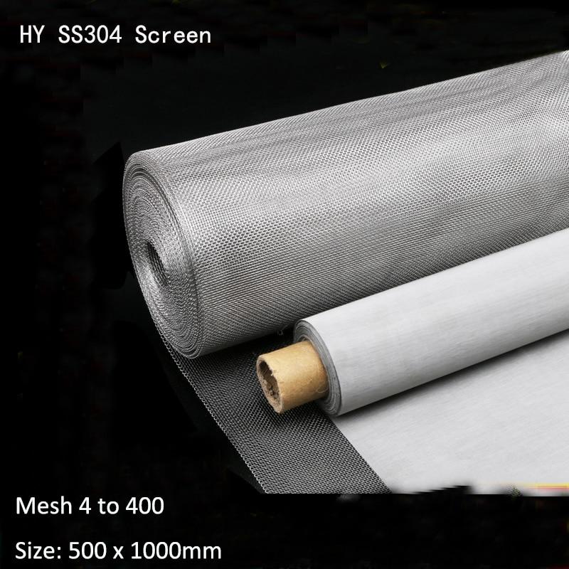 Malla 4 a 500 de acero inoxidable tela de malla Micro 200 filtro de malla de accesorios de filtro de alambre de acero