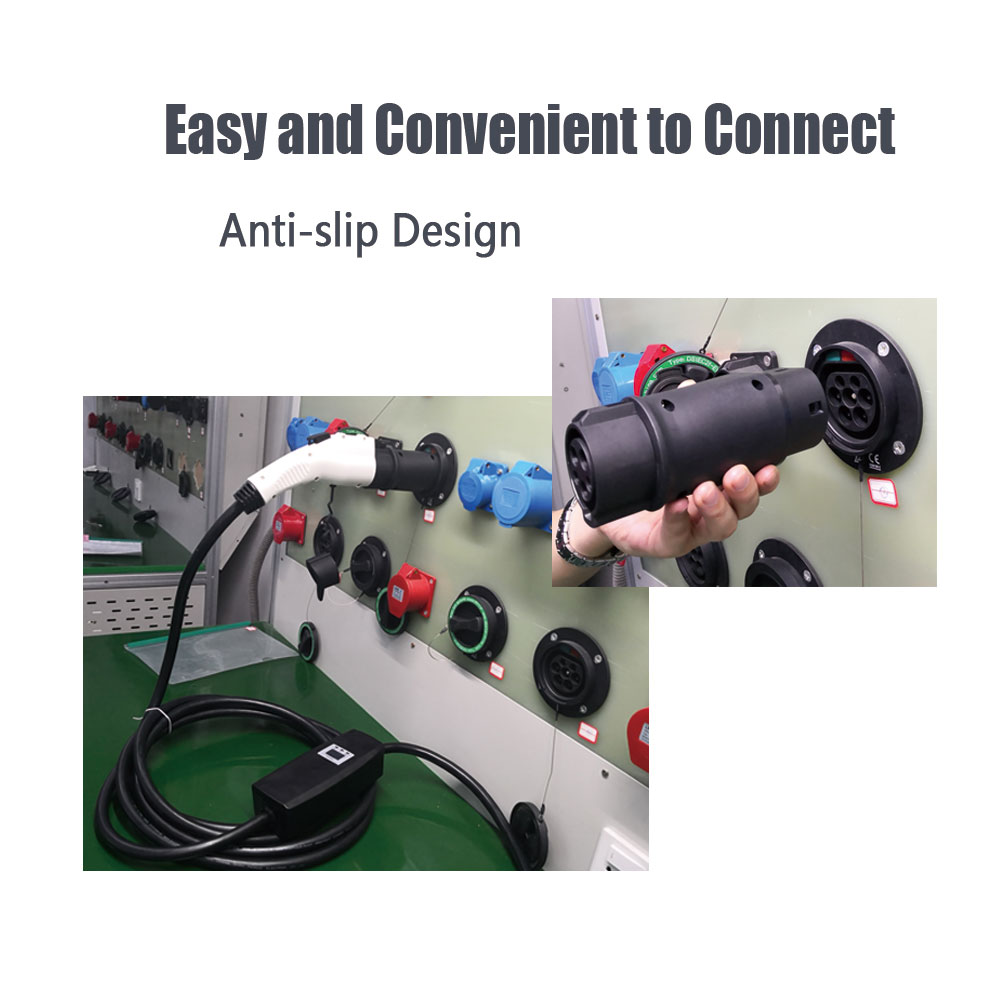 Duosida EVSE Adaptor 32A Electric Vehicle Car EV Charger Connector SAE J1772 Socket Type 1 To Type 2 EV Adapter For Car Charging enlarge