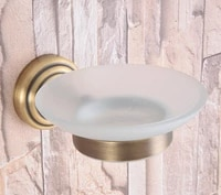 bathroom accessory vintage retro antique brass frosted glass soap dish wall mounted bathroom soap dish holder mba742