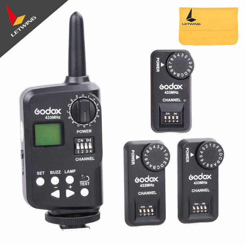 Disparador de Flash de Control inalámbrico Godox FT-16S con 3 receptores para V860 V850