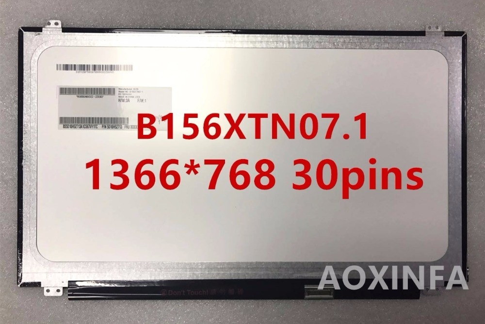 "15,6 ""portátil slim led pantalla lcd de matriz de B156XW04 V.5 B156XTN07.1 B156XTN03.3 N156BGE-EB1 N156BGE-E31 LP156WHU TPA1 B156XTN03.1"