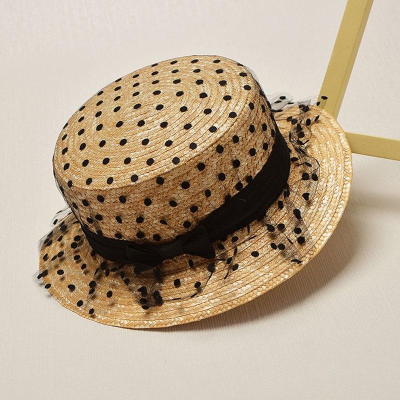 Милые дети девочки соломенная шляпа-федора с большим детские шляпы от солнца и бантом