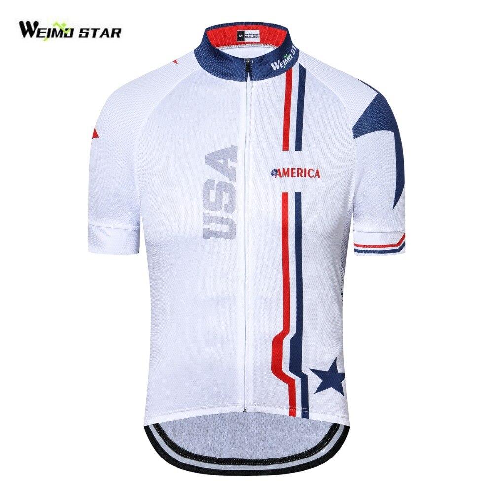 Camiseta De Ciclismo con bandera De Estados Unidos para hombre y mujer,...