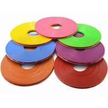 Autocollant de moyeu de pneu de voiture 8M/Roll   Étiquette de moyeu de voiture, bande de style, jante de Protection des pneus, bâches de voiture, accessoires Auto