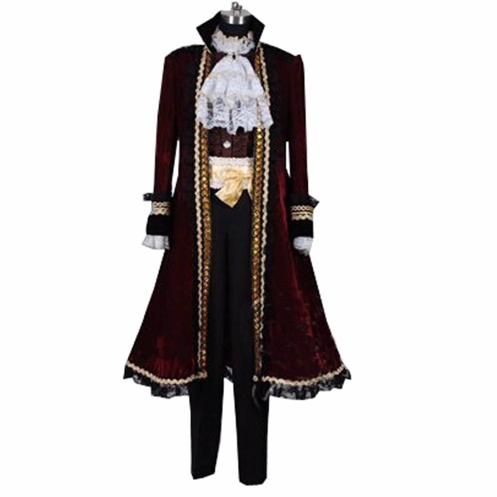 2018 Piratas del Caribe disfraz de Jack Sparrow Set Cosplay traje