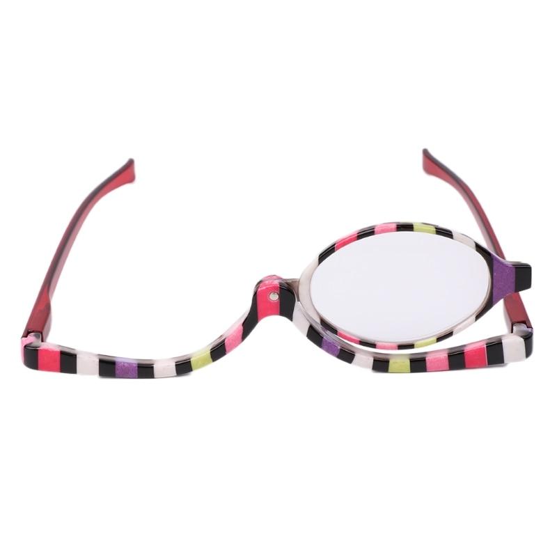 Magnifying Glasses Makeup Cosmetic Reading Glass Folding Eyeglasses +1.5~+4.0