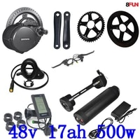 48v 500w bafang bbs02 48v 8fun bike electric motor kit motor bicycle electric with battery 48v 17ah electric bike conversion kit