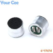 20 pièces 6*5mm capacitif Electret Microphone pick-up sensibilité 52DB Microphone Electret condensateur 6mm x 5mm micro pick-up